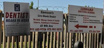Alexandra township signs