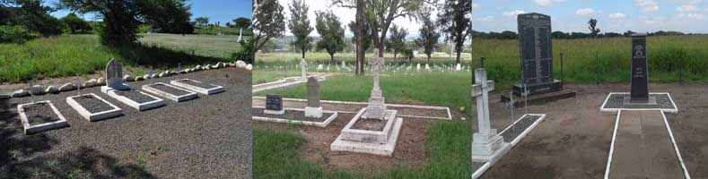 Battle of Colenso graves including Lt. Freddy Roberts