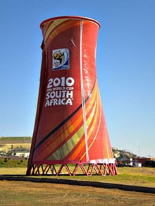 Cooling tower outside Soccer City