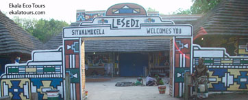 Lesedi Cultural Village entrance