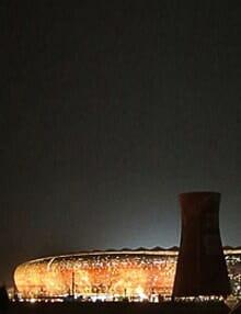 Soccer-city-(FNB)-Stadium-at-night