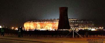 Soccer city (FNB) Stadium at night