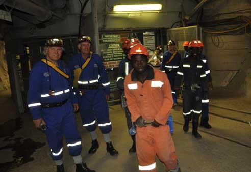 Ekala tour group underground